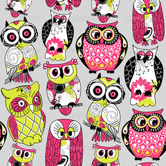 Owl (bckwds_chvyx) Tags: wallpaper cute bird eye nature floral animal modern night forest vintage happy design woods funny pattern different sad emotion symbol sweet drawing expression background character wildlife group cartoon wing whitebackground textile doodle ornament midnight trendy owl wise surprise wisdom ornate various vector isolated hoot seamless linedrawing childish handdrawn oldenglish owlet