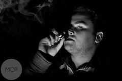 Smoker (Mark Quigley - www.markquigley.ie) Tags: ireland portrait irish white man black film set canon dark movie lens paul person photography gangster cool nice interesting noir different smoke flash cigar sharp explore pro mk2 5d session unusual boxing smoker cuban epic enviromental 30s seedy 2470 2013