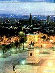Edmondo Prati Plaza Artigas con Monumento Gen Artigas Bronzo Salto Uruguay 1940