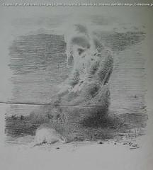 Eugenio Prati Pastorella che prega 1899 litografia stampata su Strenna dell'Alto-Adige Collezione privata