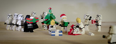Christmas Scene (little ju !) Tags: christmas tree toy toys starwars lego gift stormtrooper littleju