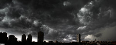"""Learn to swim"" - São Paulo - Brasil (TLMELO) Tags: brazil sky panorama storm black brasil clouds grey sãopaulo sunday nuvens domingo negras lapa tempestade zonaoeste"