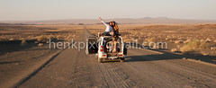 Road trip-0351 (Henk Kruger pics) Tags: holiday dessert funny roadtrip capetown dirtroad namibia sunnyday loaded gravelroad roadtonowhere suzukijimny flatwheel 4x4trip continentaltyres capetonamibia