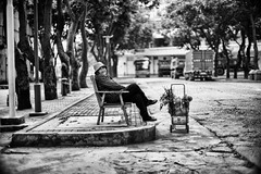 Have a rest (Nothing Project) Tags: china street camera city vacation portrait people urban blackandwhite bw test holiday man abandoned digital photoshop children lens fun 50mm blackwhite interesting women flickr photographer dof child bokeh candid sony voigtlander streetphotography evil snap best explore squareformat chinadigitaltimes fixed fullframe alpha popular manualfocus nanning lightroom guangxi vm nex photomatix primelens mirrorless flickriver insterstingness sonyphotography sonya7 nokton50mmf11 macrosquare emount