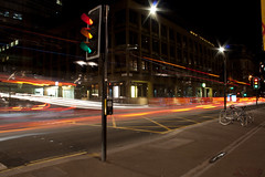 Light Trails (Sam-Smith) Tags: road city longexposure trafficlights lights traffic glasgow trails multipleexposure layers lighttrail
