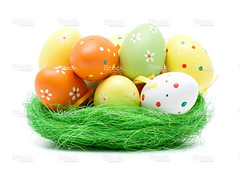 Colorful easter eggs (imagesstock) Tags: summer orange white holiday cute rabbit green animal yellow closeup easter season spring holidays paint egg cartoon decoration straw craft happiness nopeople celebration event whitebackground celebrations decorating gift bow bunch eggs ribbon cheerful multicolored ideas arrangement isolated birdsnest homeimprovement easterbunny easteregghunt traditionalculture concepts easteregg easterdecoration babyrabbit designelement 复活节 isolatedonwhite celebrationevent animalnest animalegg
