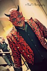 Devil (Red 5 Photography) Tags: red black nerd dark costume nikon colorado geek mask cosplay zombie hell horns evil creepy satan coloradosprings demon devil cosplayer underworld fandom 2014 smokingjacket galaxyfest d5200