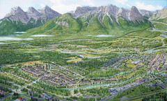 Arial view of Canmore