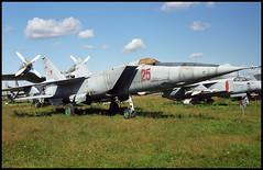 25 red - Monino Museum 20.08.2001 (Jakob_DK) Tags: 2001 monino centralrussianairforcemuseum mikoyan gurevich mikoyangurevich mig mig25 foxbat mig25r ye133r sovietairforce