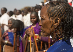Woman with braided hair during the Gada system ceremony in Borana tribe, Oromia, Yabelo, Ethiopia (Eric Lafforgue) Tags: africa african africanculture anthropology badhaasa booran boran borana borani borena colourpicture culturalheritage eastafrica ethiopia ethiopia0317374 ethiopian gaada gada gadasystem gadaa groupofpeople hair hairstyle horizontal hornofafrica maturewomen nomad nomadicpeople oromia oromiya oromo oromya outdoors traditionalclothing traditionalculture tribal tribalculture tribe unesco women yabello yabelo et