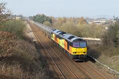 Two Tugs At Hapton. (Neil Harvey 156) Tags: railway 60021 60047 hapton prestondockstanks prestontanks bitumentanks 6e32 class60 colasrail colas tug doubleheaded
