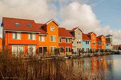 Reitdiep-3,-flickr (aafbk) Tags: groningen reitdiep huizen houses architectuur architecture wolken clouds sky lucht