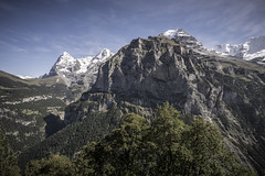 looking for Eiger (Arniesra) Tags: switzerland lauterbrunnen murren landscape hdr