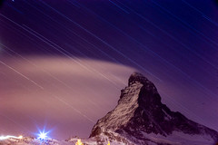 IMG_1981 (vitaminbea (Focus) - bea@vitaminbea.ca) Tags: zermatt matterhorn gornergrat nightshot longexposure landscape white winter snow neige blanc paysage paysageblanc poselongue sky stars étoiles