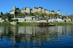 Chinon (Eric RIFLET) Tags: touraine indreetloire loirevalley valléedelaloire chinon castle fortress vienne blue water france landscape