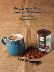 Hot Chocolate Haiku (Geoff France) Tags: teapot mug tealeaf hessian cocoa poetry drink hotdrink refreshment