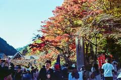 Crowds to Mt Takao (hiphopmilk) Tags: minox35ml minox35 minox 35mm 135film film analog analogue kodak jaredyeh hiphopmilk japan tokyo mountain mt mount takao 高尾山 takaomachi maple red tree leaf trail entrance crowds crowded