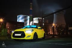 Hyundai Veloster (gruberphilipp819) Tags: industrie chemnitz veloster hyundai yellow tuning auto car