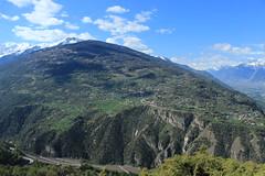 Val d'Hérens, vue sur Vex (bulbocode909) Tags: valais suisse nax viaferrata montnoble vald'hérens vex mayensdesion nature montagnes printemps forêts arbres paysages vert bleu nuages