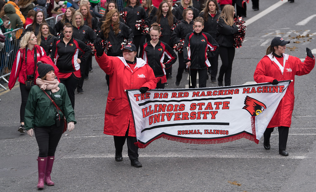 Illinois State University's Big Red Marching Machine [St. Patricks Parade 2017]-125833