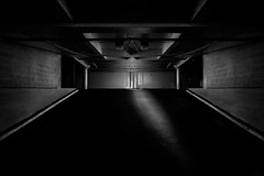 Top Level (shutterclick3x) Tags: parking garage bw blackandwhite moody lightandshadow frankloose