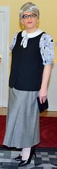 Ingrid024048 (ingrid_bach61) Tags: pleatedskirt faltenrock waistcoat weste blouse bluse mature