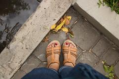 365-90 (Letua) Tags: yo pies hojas lineas piso selfportrait feet leaves autumn fall floor weeklythemes double feetshoes
