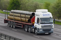 MX11 AYN (panmanstan) Tags: daf cf wagon truck lorry commercial flatbed freight transport haulage vehicle m18 motorway langham yorkshire
