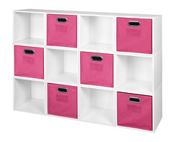 PC12PKWH_HTOTEPK (RegencyOfficeFurniture) Tags: niche regency cubo cubestorage modularstorage modular connecting connectable adaptable custom customizable cube square storageset closet organizer organization furniture cubes expandable home melamine laminate woodtone white whitewoodgrain pc12pk pc1211wh pink magenta hotpink pinkstorage pinkbins pinktotes htotepk