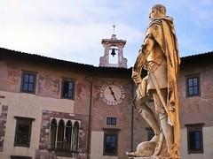 Statue of Granduke Leopold of Tuscany in Piazza dei Cavalieri, Pisa (matteoleoni1) Tags: pisa tuscany toscana italy italia tourism studying university sun sunny sole statue art history