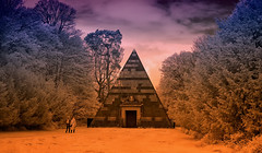 Stargate Entrance (NGT Images) Tags: infra red ir blickling hall sg1 stargate creative colours pyramid