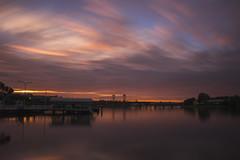 Crossing Clouds (satochappy) Tags: clouds sunrise morning riverside bridge parramattariver sydney ferryterminal
