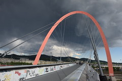 Clouds on The olimpic arc (only_sepp) Tags: torino lingotto arcoolimpico nuvole sera