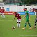 Thyago Costa, goleiro da Portuguesa Santista, se prepara para cobrança de falta em partida que a Briosa venceu o Independente de Limeira por 3 a 0