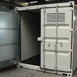Geïsoleerde container ten behoeve van twee biogas blowers. Geluidniveau van 91 dB(A), naar <70 dB(A). Container is tevens voorzien van een geluidgedempt ventilatiesysteem.
