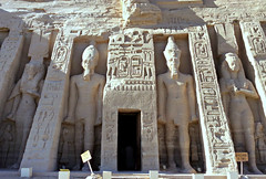Temple of Hathor, Abu Simbel, Egypt 2016 (Grangeburn) Tags: egypt abusimbel ancientegypt ramsesii nubia nile nefertari hathor architecture ancientegyptianarchitecture geotagged temple