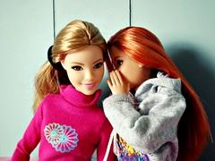 Secrets... (Deejay Bafaroy) Tags: barbie fashionistas doll dolls puppe puppen mattel madetomove mtm lovelyinlilac 53 glamteam redhead portrait porträt pink