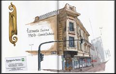 Farmacia Suiza / Swiss Drugstore: (ftessa) Tags: ftessa fedetessa croquis sketches sketch sketchbook urbansketchers buenosaires