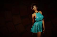 Tan in the night (JoytiBloom of Second Life) Tags: minidress cocktaildress cocktail art fashion photography blog dream tableauvivant maitreya catwa