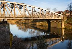 Knutsford road swing bridge 04 mar 17 (Shaun the grime lover) Tags: warrington bridge reflection spring sunset water knutsfordroad latchford cheshire manchestershipcanal ship canal swingbridge