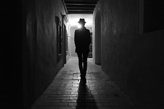 noir city (Emiliano Grusovin) Tags: filmnoir mood backlight silhouette oldtown night city urban ambience shadow xf18mmf2r fujifilmxe1 bw blackandwhite