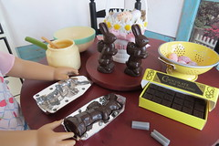5. Easter bunny molds (Foxy Belle) Tags: doll kit american girl diorama 16 scale easter chocolate set scrapbook paper floor wrapping mold make kitterage great depression