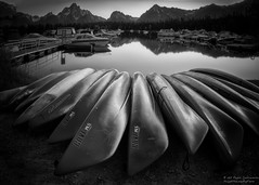 Serenity (Rajesh Jyothiswaran) Tags: boats colterbay grandteton longexposure mtmoran nationalpark sky water reflection