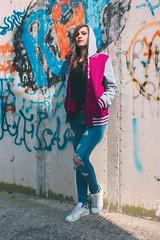 High School Carmela 05 B (domjuniorlemma) Tags: girl wonderful beautiful pink red grey fuchsia colors black white shadow light photography photo photographer photoshop photoshoot shooting college jacket school highschool hat glasses sunglasses smile lips eyes young teen guys cheerleader model canon sun morning sky wow swag cerignola project domenicolemma domenico lemma domenicolemmaphotography newyork milan rome losangeles moscow london paris berlin rays hairs hair jeans graffiti cameraraw raw camera class persone ritratto