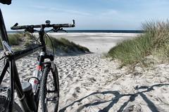 Following the northern coastline of Ameland, one of the West Frisian islands (lluunnoo) Tags: sand friesland water dunes bike sea netherlands ameland beach mtb