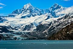 The John Hopkins Glacier (jthight) Tags: johnhopkinsglacier cruise hollandamerica mountsalisbury nikond500 nationalpark mountains vrzoom28300mmf3556gifed glacierbaynationalpark glacier clouds lituyamountain june on1pics rocks iceberg tidewaterglacier d500 sky seascape glacierbay alaska lightroom ice gustavus unitedstates us