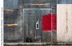 Stryx Bowling Centre, Grimsby (jwvraets) Tags: grimsby abstract plywood derelict building closed abandoned stryx bowlingalley red redrule opensource rawtherapee gimp nikon d7100 nikkor35mmf18dx