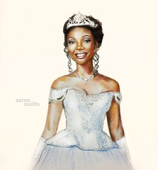 Brandy as Cinderella (Richard Zimmons) Tags: brandy cinderella rodgersandhammerstein whitney houston colored pencil broadway sketch art black african american