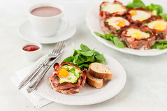 Bacon and Egg Cups with Spinach (dolphy_tv) Tags: appetizer appetizing bacon baked beverage bread breakfast brunch cake chocolate coffee cooked crispy cup cupcake delicious dinner dish drink egg fat food fork fresh green ham knife lunch meal morning onion pepper pie plate portion rasher roasted runny sauce slice snack spinach spring table tasty toast unhealthy white yellow yolk