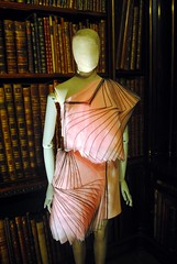 Chick flick (zawtowers) Tags: chatsworth derbyshire peak district historic house home devonshire family residence monday 3rd april 2017 visit day out housestyle exhibition show fashion through ages history couture library pink book page chick flick fashionista original idea opposite veiled lady